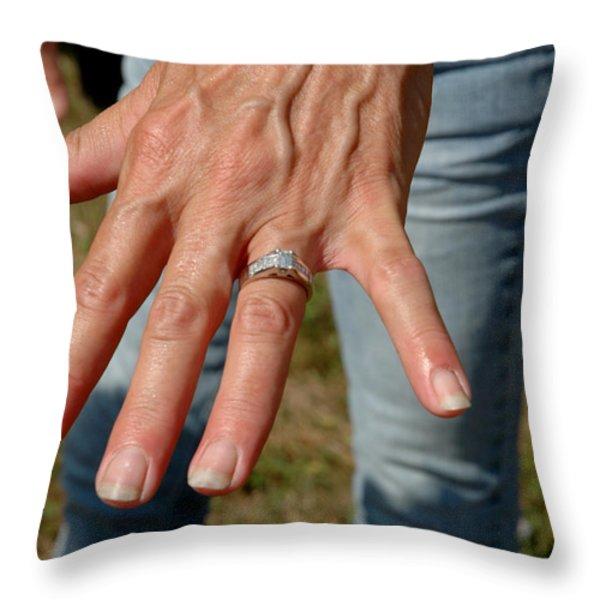 Engaged Throw Pillow by LeeAnn McLaneGoetz McLaneGoetzStudioLLCcom