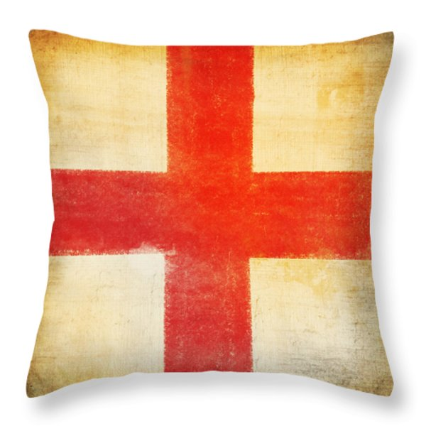 England flag Throw Pillow by Setsiri Silapasuwanchai