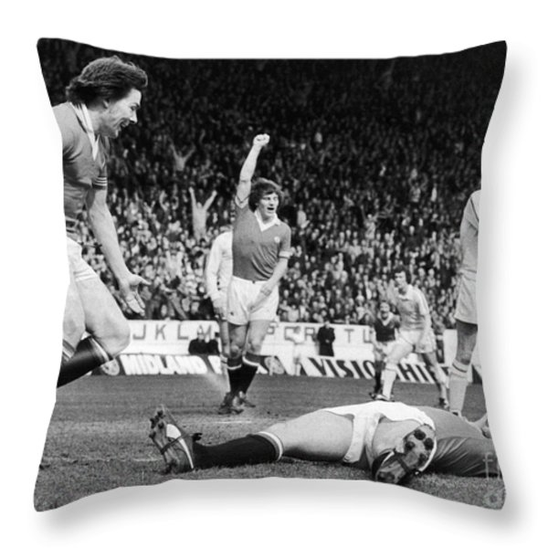 England: Soccer Game, 1977 Throw Pillow by Granger