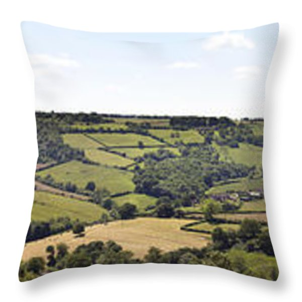 English countryside panorama Throw Pillow by Jane Rix