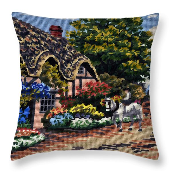 English Tapestry Throw Pillow by Kaye Menner