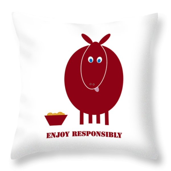 Enjoy Responsibly Throw Pillow by Frank Tschakert