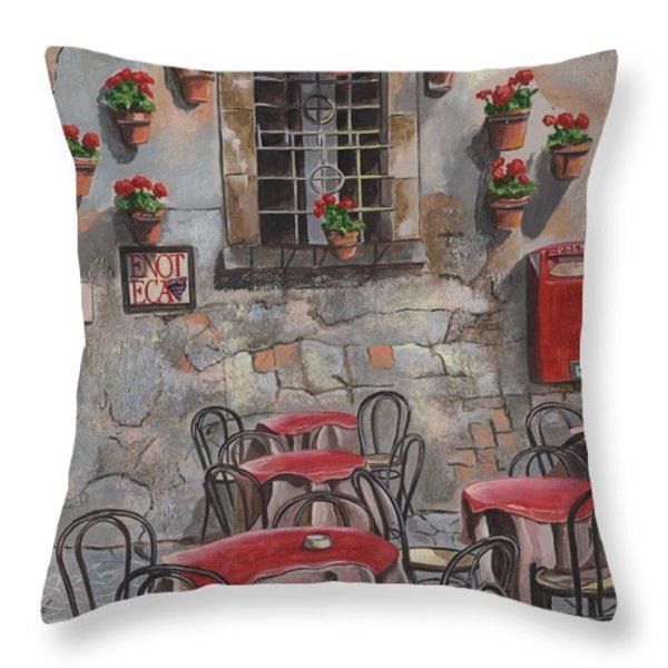Enot Eca Throw Pillow by Debbie DeWitt