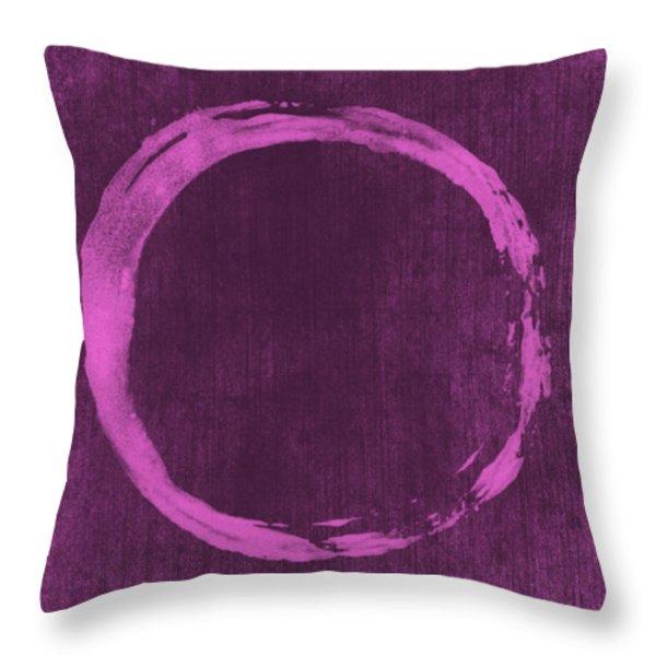 Enso 4 Throw Pillow by Julie Niemela
