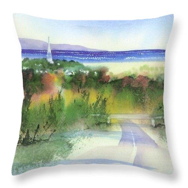 Entering Sandwich Throw Pillow by Joseph Gallant