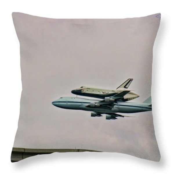 Enterprise 10 Throw Pillow by S Paul Sahm