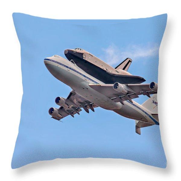 Enterprise Space Shuttle  Throw Pillow by Susan Candelario