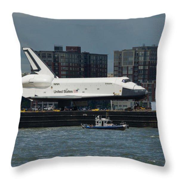 Enterprise to Intrepid Throw Pillow by Gary Eason