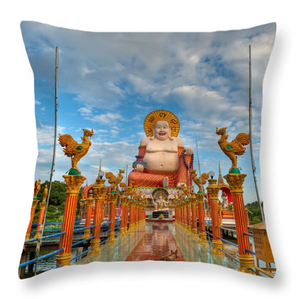 Entrance To Buddha Throw Pillow by Adrian Evans
