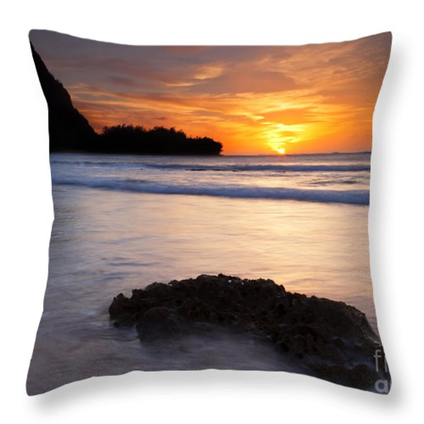Enveloped By The Tides Throw Pillow by Mike  Dawson