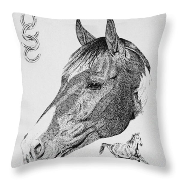 Equine Profile Throw Pillow by Malc McHugh