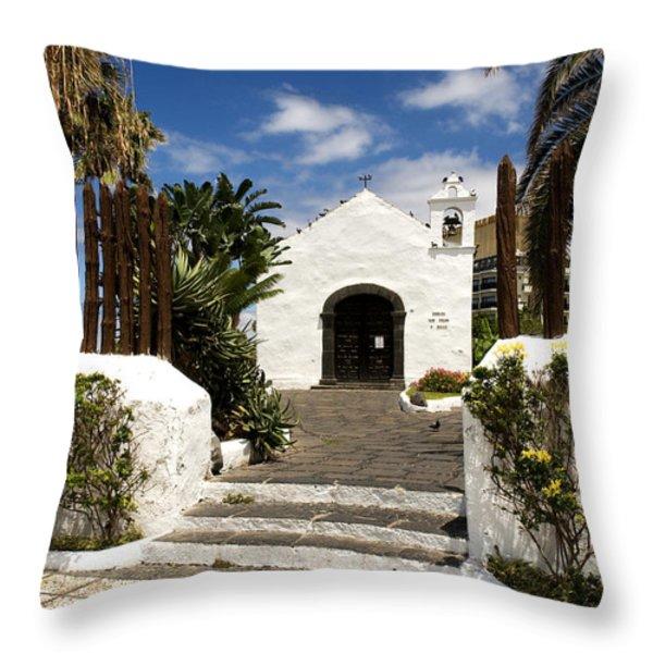Ermita De San Telmo Throw Pillow by Fabrizio Troiani