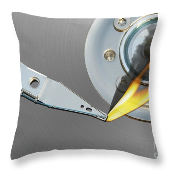 error Throw Pillow by Michal Boubin