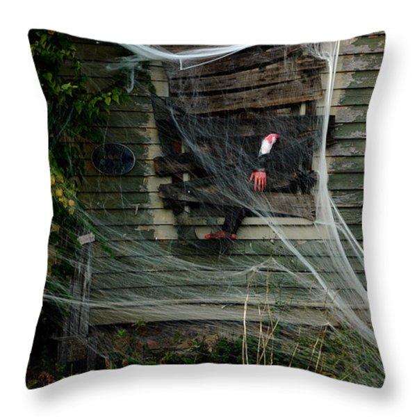 Escaping The Web Throw Pillow by LeeAnn McLaneGoetz McLaneGoetzStudioLLCcom