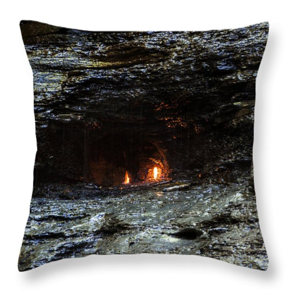 Eternal Flame Reflections Throw Pillow by Darleen Stry