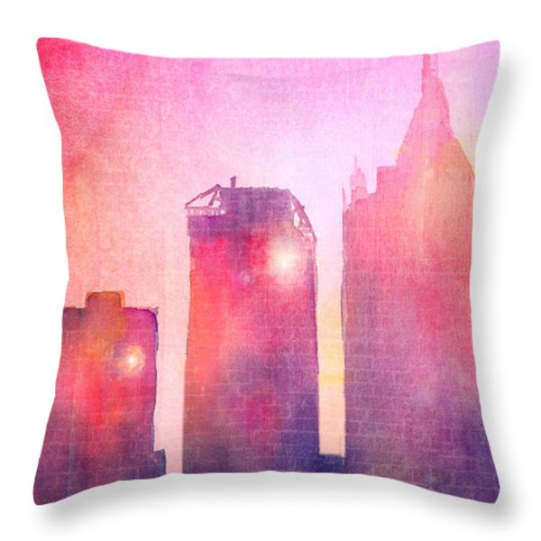 Ethereal Skyline Throw Pillow by Arline Wagner