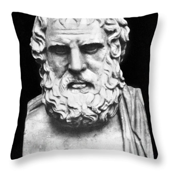Euripides Throw Pillow by Granger