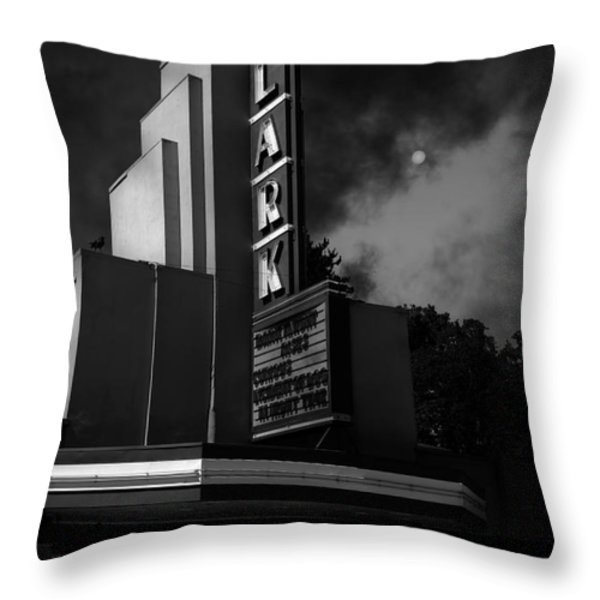 Evening At The Lark - Larkspur California - 5d18484 - Black And White Throw Pillow by Wingsdomain Art and Photography