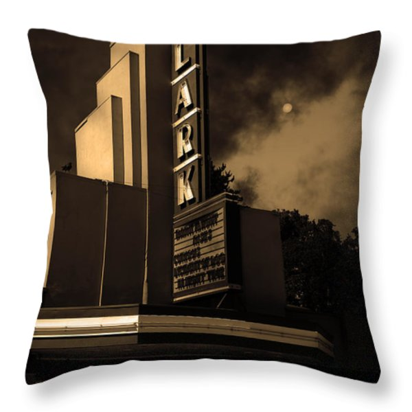 Evening At The Lark - Larkspur California - 5d18484 - Sepia Throw Pillow by Wingsdomain Art and Photography