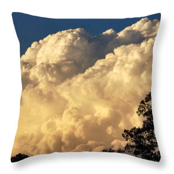Evening Clouds Throw Pillow by Thomas R Fletcher
