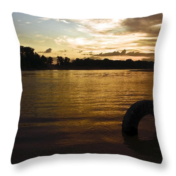 Evening River Throw Pillow by Svetlana Sewell
