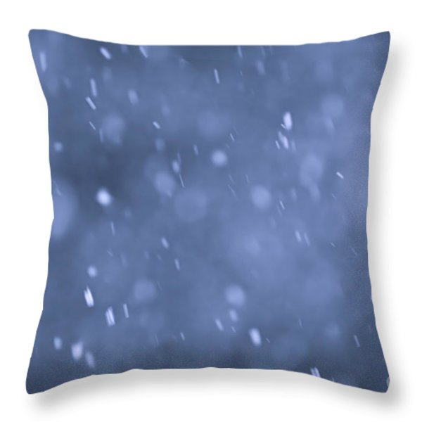 Evening snow Throw Pillow by Elena Elisseeva