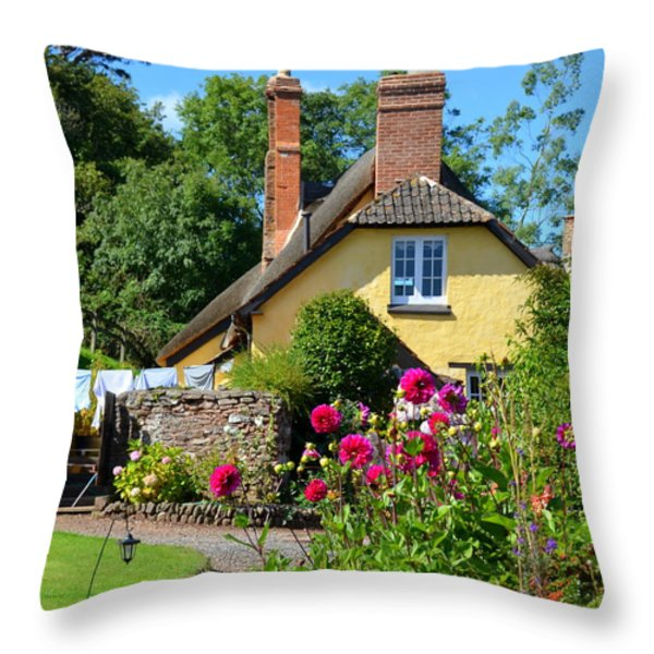 Everyday Life In Somerset Throw Pillow by Carla Parris