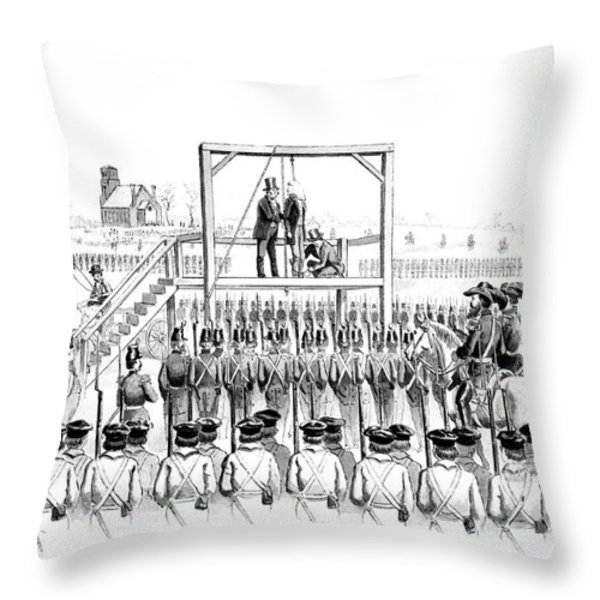 Execution Of John Brown, American Throw Pillow by Photo Researchers