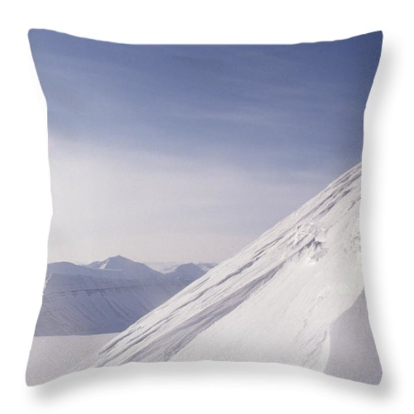 Expedition Skiers Climb Nemtinov Peak Throw Pillow by Gordon Wiltsie