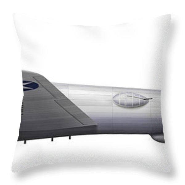 Experimental Boeing Xb-15 Bomber Throw Pillow by Chris Sandham-Bailey