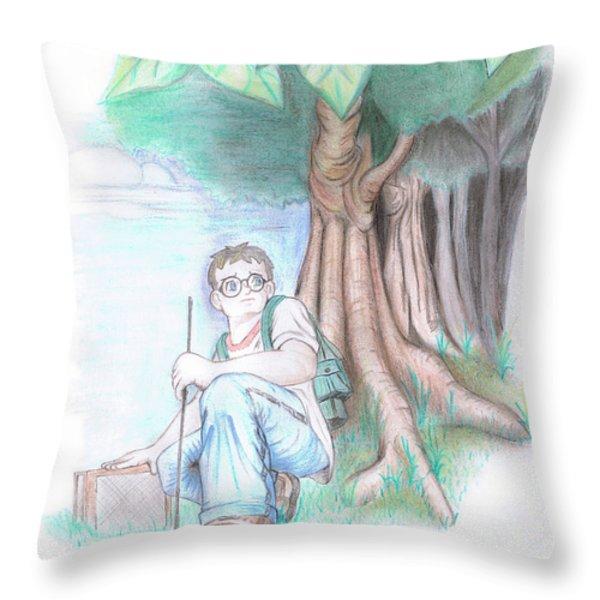 Explorer's Curiousness Throw Pillow by Ester  Rogers