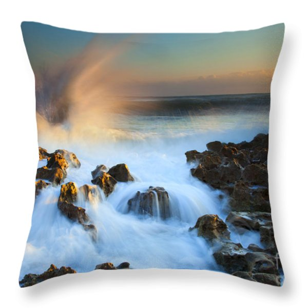 Explosive Dawn Throw Pillow by Mike  Dawson