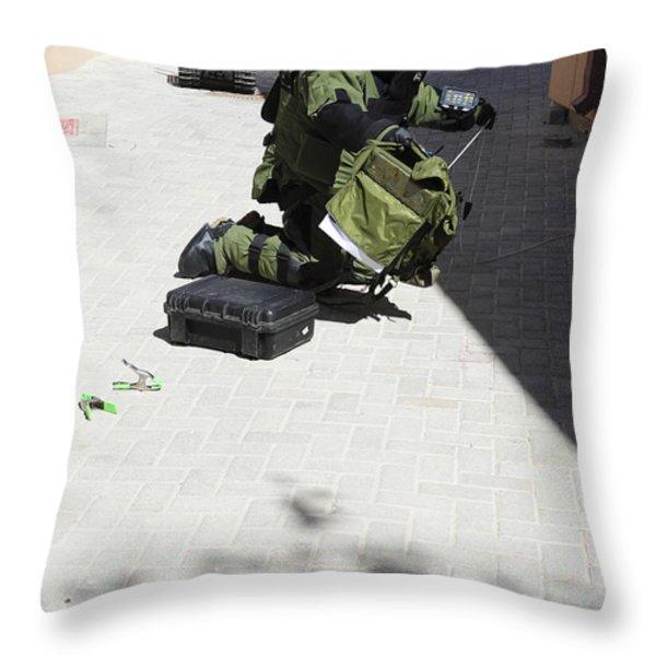 Explosive Ordnance Disposal Technician Throw Pillow by Stocktrek Images
