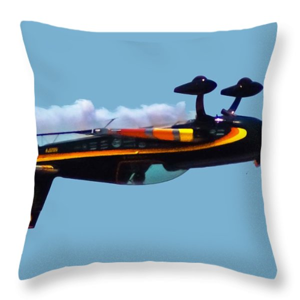 Extra 300s Stunt Plane Throw Pillow by DigiArt Diaries by Vicky B Fuller