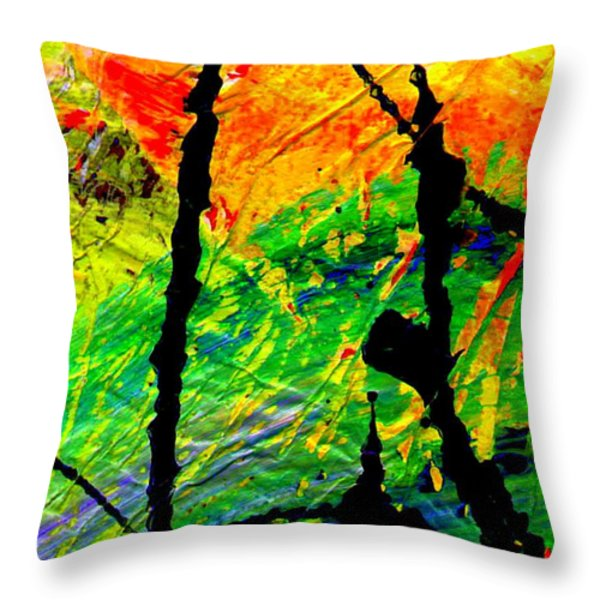 Extreme Ecstasy Throw Pillow by Angela L Walker