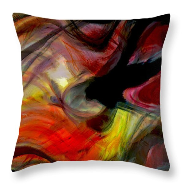 Eye Candy Throw Pillow by Linda Sannuti