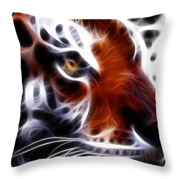 Eye Of The Tiger 2 Throw Pillow by Wingsdomain Art and Photography