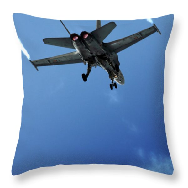 f18 Throw Pillow by Angel  Tarantella