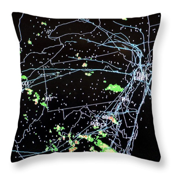 Faa Flight Status Of Aircraft Throw Pillow by Greg Dale