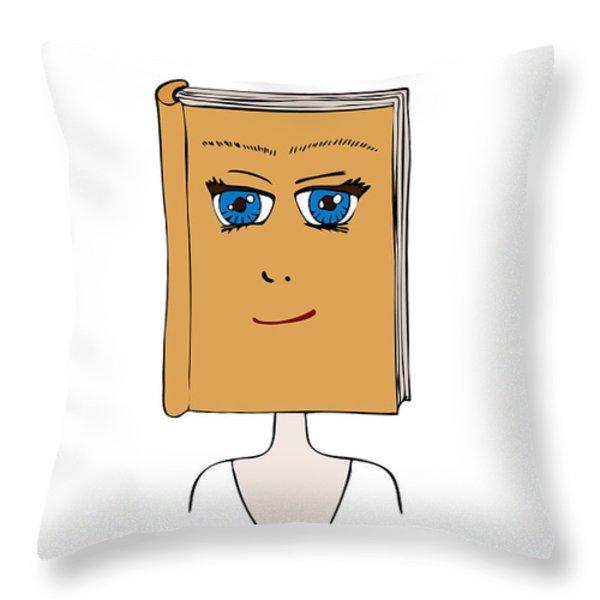Face Book Throw Pillow by Frank Tschakert