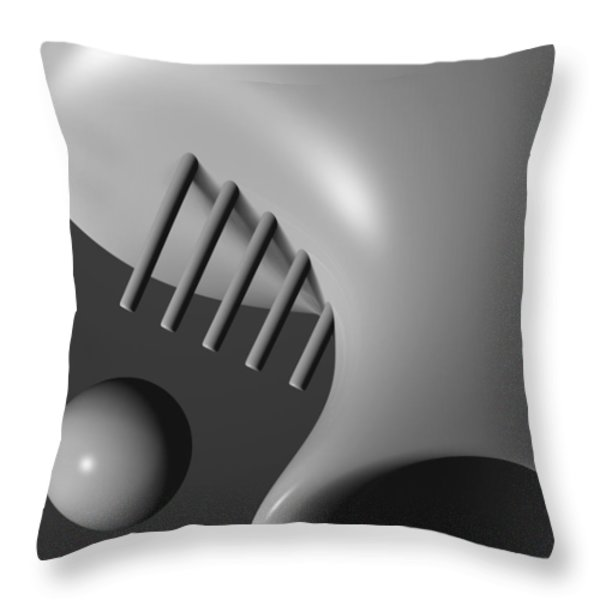 Face In The Crowd Throw Pillow by Richard Rizzo
