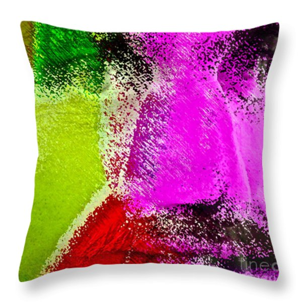 Face to Face Throw Pillow by Gwyn Newcombe