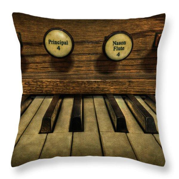 Facing The Music Throw Pillow by Evelina Kremsdorf