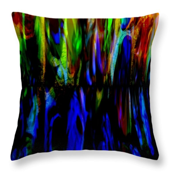 Fade To Blue Throw Pillow by Angelina Vick