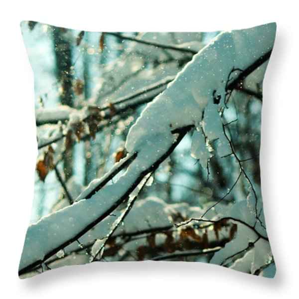 Faery Forest Throw Pillow by Rebecca Sherman