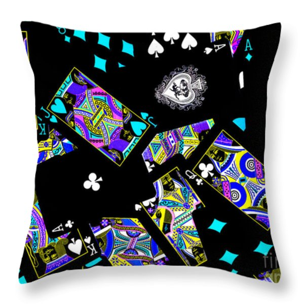 Fall of The House of Cards Throw Pillow by Wingsdomain Art and Photography