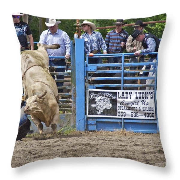 Fallen Cowboy Throw Pillow by Sean Griffin