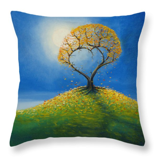 Falling For You 2 Throw Pillow by Jerry McElroy
