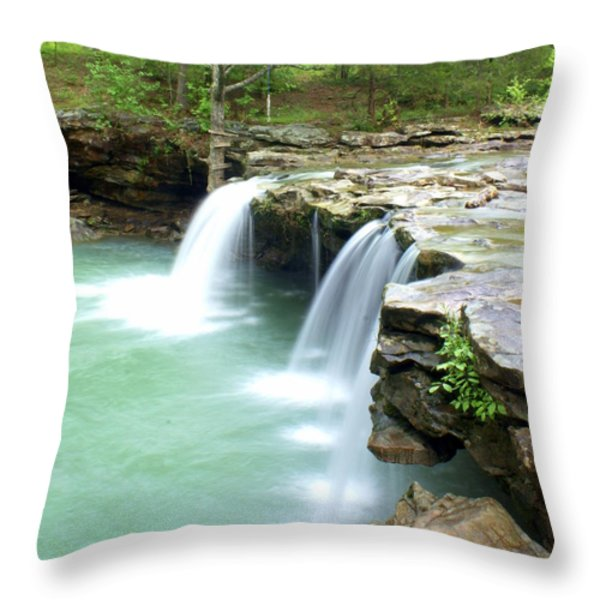 Falling Water Falls 5 Throw Pillow by Marty Koch