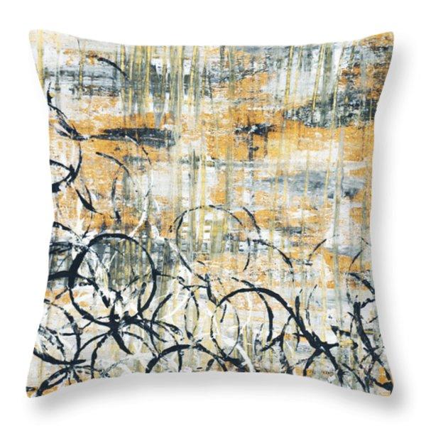 Falls Design 3 Throw Pillow by Megan Duncanson